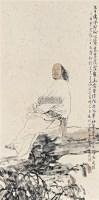 蒲松龄像 镜框 设色纸本 - 129875 - 名家作品二 - 2011广州艺术博览会夏季名家作品拍卖会 -收藏网