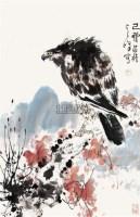 鹰 立轴 设色纸本 - 1722 - 中国书画 - 2010年春季拍卖会 -中国收藏网