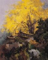 青城山一景 布面油画 - 尹戎生 - 中国油画 - 2006夏季艺术品拍卖会 -收藏网