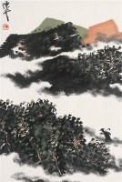 山水 镜心 设色纸本 - 136592 - 中国书画 - 2005首届书画拍卖会 -中国收藏网