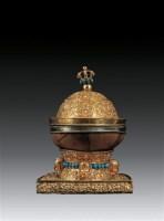 铜鎏金银里嘎巴拉碗 -  - 卧松斋藏传佛教珍品专题 - 2007春季拍卖会 -收藏网