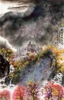 风景 镜心 设色纸本 - 4608 - 艺海撷珍—书画艺术品专场 - 2011年秋季拍卖会 -中国收藏网