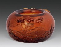 料器花卉纹水丞 -  - 瓷杂 - 五周年秋季拍卖会 -收藏网