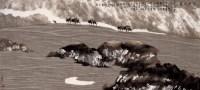 周尊圣 沙原饮泉 镜心 - 周尊圣 - 当代中国书画(二) - 2006畅月(55期)拍卖会 -收藏网
