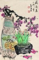 岁朝图 立轴 设色纸本 - 金默如 - 中国书画 - 2008太平洋迎春艺术品拍卖会 -收藏网