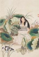 人物 绢本设色 - 王美芳 - 中国书画 - 2011春季艺术品拍卖会 -收藏网