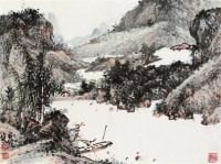 秋晴图 镜片 - 131473 - 中国书画 - 壬辰迎春 -中国收藏网