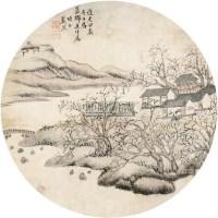 山水人物 镜片 纸本 - 13561 - 扇画小品专题 - 庆二周年秋季拍卖会 -收藏网
