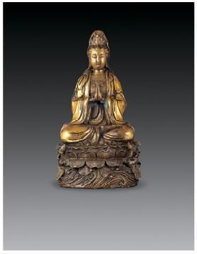 铜鎏金观音菩萨像 -  - 佛像唐卡 - 2007春季艺术品拍卖会 -收藏网