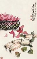 菱藕图 镜片 设色纸本 - 117343 - 瓷器、古典油画、中国近现代书画 - 2011年秋季艺术品拍卖会 -中国收藏网