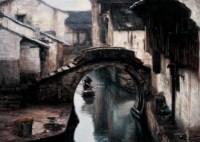 陈逸飞 1990年 晨曦 布面 油画 - 陈逸飞 - 中国油画及雕塑 - 2006秋季拍卖会 -中国收藏网