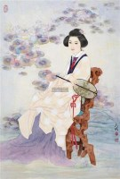人物 镜片 设色纸本 - 125946 - 近现代中国书画 - 2011秋季艺术品拍卖会 -收藏网