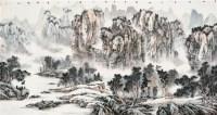 山水 镜心 设色纸本 - 130555 - 当代中国画名家专场 - 2011秋季艺术品拍卖会 -收藏网