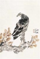 鹰    画片 设色纸本 - 萧朗 - 中国书画(一) - 2011秋季拍卖会 -中国收藏网