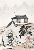 望归楼前 镜片 - 56210 - 中国书画(二) - 2011秋季书画拍卖会 -收藏网