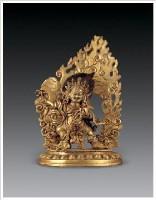铜鎏金金刚手菩萨像 -  - 佛像唐卡 - 2007春季艺术品拍卖会 -收藏网