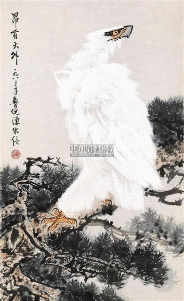 鹰 镜片 纸本 - 116616 - 中国书画 - 2011春季艺术品拍卖会 -收藏网