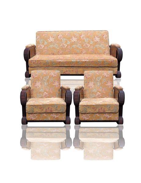 柚木沙发三件套 - - 古典家具专场