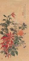 菊花 立轴 设色绢本 - 汤世澍 - 中国书画 - 2006年秋季拍卖会 -收藏网