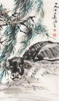 牛 立轴 纸本 - 7693 - 名家专场二 - 第八期民间收藏书画拍卖会 -收藏网