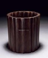 红木葵口笔筒 -  - 古董珍玩 - 2011金秋艺术品拍卖会 -收藏网