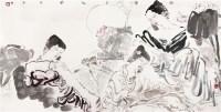 荷塘月色 框 设色纸本 -  - 中国书画(二) - 2011秋季艺术品拍卖会 -收藏网
