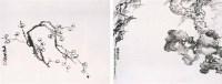 萧俊贤 花卉双挖 镜心 设色纸本 - 萧俊贤 - 中国书画(一) - 2006畅月(55期)拍卖会 -收藏网
