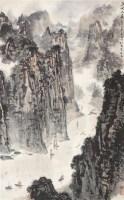 三峡之晨 立轴 设色纸本 - 5002 - 海外华人藏近现代书画专场 - 2011秋季拍卖会 -中国收藏网