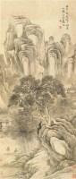 寒山松竹 立轴 纸本 - 高翔 - 日本私人美术馆藏中国古代书画专场 - 2011夏季艺术品拍卖会 -收藏网
