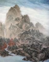 山高水长 麻布 -  - 中国书画(二) - 五周年秋季拍卖会 -收藏网