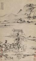 疏林平远图 立轴 纸本 - 倪瓒 - 中国书画(十) - 嘉德四季第二十六期拍卖会 -中国收藏网