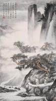 拟唐伯虎山水 立轴 设色纸本 - 胡若思 - 中国近现代书画(二) - 2005秋季拍卖会 -收藏网