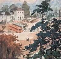 风景 纸本水彩 - 倪贻德 - 中国油画(二) - 2006年中国艺术品春季拍卖会 -收藏网