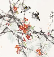 凌霄八哥 立轴 设色纸本 -  - 中国书画(二) - 2011秋季艺术品拍卖会 -中国收藏网