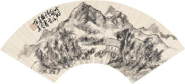 大好溪山 扇面 水墨纸本 - 8107 - 中国书画一 - 2011秋季艺术品拍卖会 -收藏网