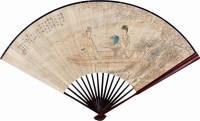 姜白石诗意图 行书 成扇 设色纸本 -  - 扇里乾坤-中国成扇专场 - 2008首届秋季大型古玩书画拍卖会 -收藏网