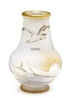 杜姆兄弟 海鸥与龟图案风景花瓶 -  - 装饰美术 - 2011秋季伊斯特香港拍卖会 -收藏网