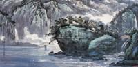 飞流直下翠谷峡 镜心 设色纸本 - 苗重安 - 中国书画 - 第55期中国艺术精品拍卖会 -中国收藏网