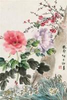 群芳争艳 立轴 设色纸本 - 123440 - 中国书画(二) - 2009春季大型艺术品拍卖会 -收藏网
