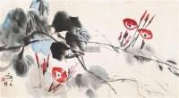 花卉 镜片 设色纸本 - 134237 - 中国书画(一) - 2011年金秋精品书画拍卖会 -收藏网