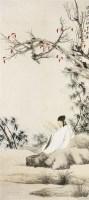 张大千(1899-1983)读书秋树根 - 张大千 - 中国书画 - 2007年秋季中国书画拍卖会 -收藏网