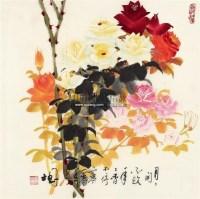 月季 轴 - 罗国士 - 中国书画 - 2011年春季艺术品拍卖会 -中国收藏网
