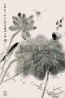 荷花 镜心 设色纸本 - 韩璐 - 中国书画 - 2008年秋季艺术品拍卖会 -收藏网