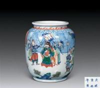 青花五彩人物灯笼尊 -  - 中国古董家具及书画 - 2011年春季拍卖 -中国收藏网