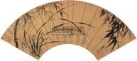 墨竹 扇片 泥金笺本 - 石涛 - 中国书画 - 2009夏季拍卖会 -收藏网
