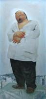 立者 布面油画 - 何净 - 中国油画 雕塑专场 - 2008年迎春艺术品拍卖会 -收藏网