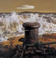 大海的丰碑 布面油画 - 154056 - 油画专场 - 2006迎春首届大型艺术品拍卖会 -收藏网