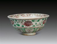 红绿彩鸳鸯纹碗 -  - 中国陶瓷及艺术珍玩 - 2011秋季拍卖会 -中国收藏网