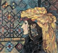肖像 布面 油画 - 刘秉江 - 中国现当代艺术 - 2007迎春拍卖会 -收藏网