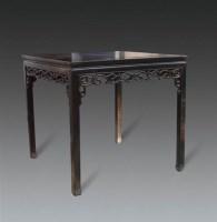 清   红木卷草纹八仙桌 -  - 明清古典家具专场 - 明清古典家具专场拍卖会 -收藏网